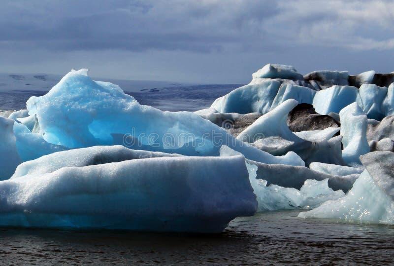 Laguna glacial de Jokulsarlon imagen de archivo libre de regalías