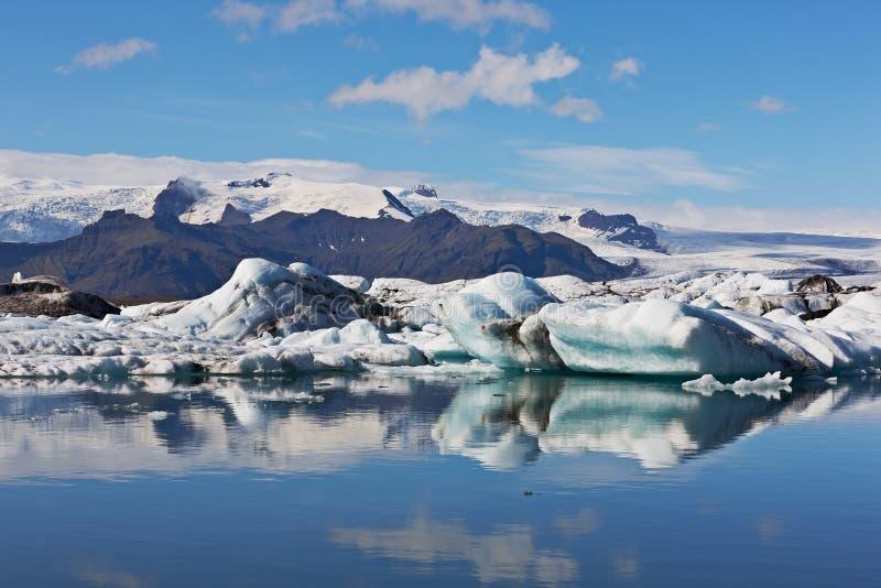 Laguna glacial de Jokulsarlon, Vatnajokull, Islandia fotos de archivo