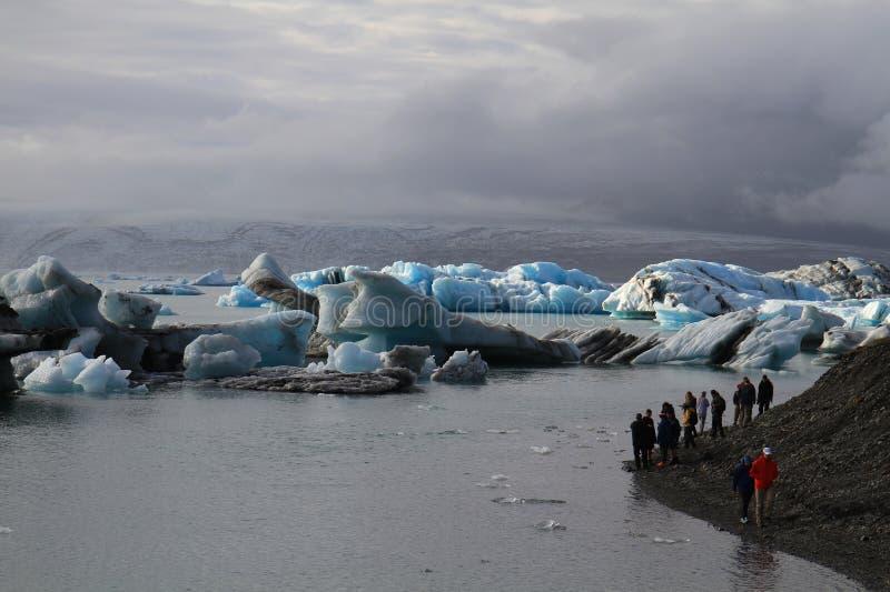Laguna glacial de Jorkulsarlon, Islandia imagen de archivo libre de regalías