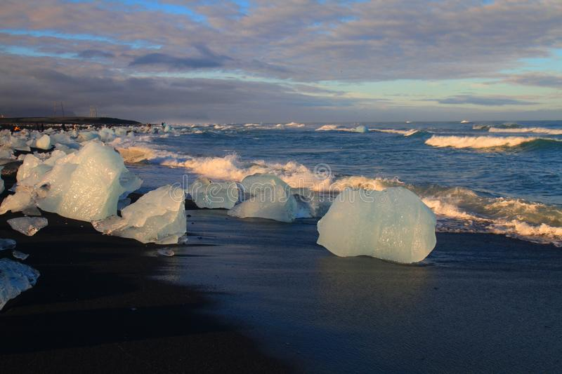 Laguna glacial de Jorkulsarlon, Islandia fotografía de archivo