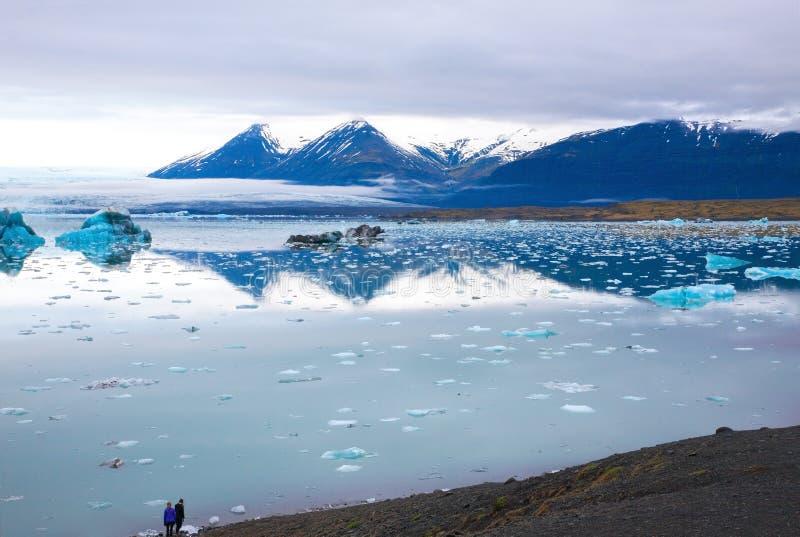 Laguna glaciale di Jokulsarlon fotografia stock