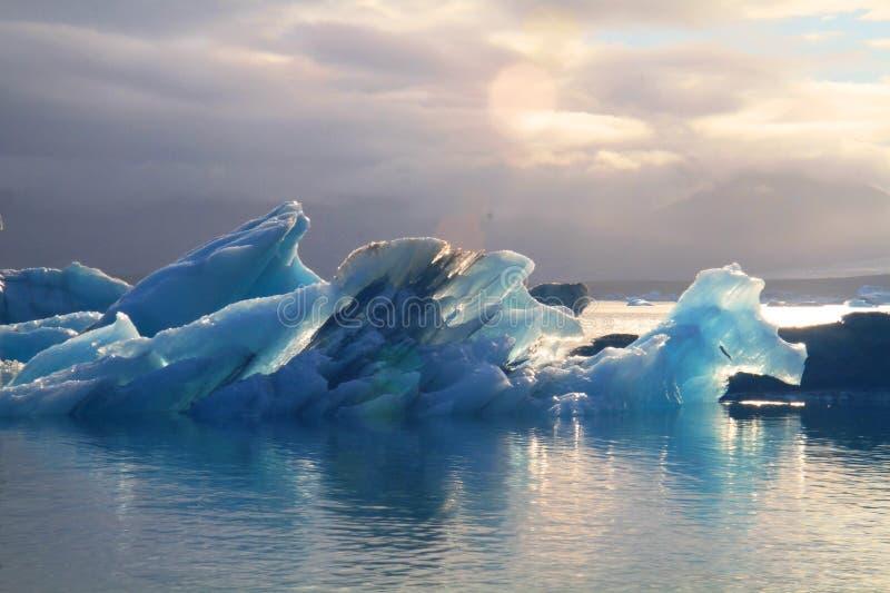 Laguna glaciale di Jorkulsarlon, Islanda fotografia stock libera da diritti