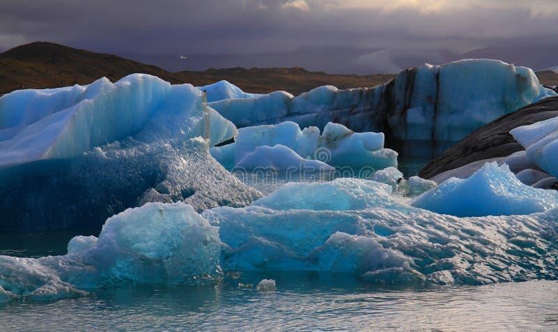 Laguna glaciale di Jorkulsarlon, Islanda fotografia stock