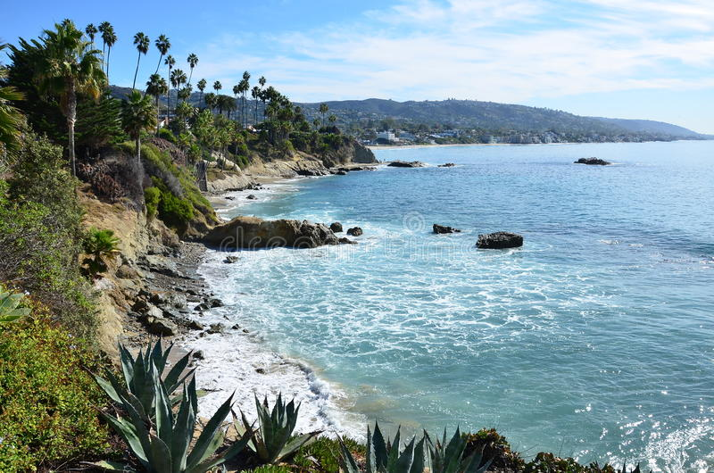 Laguna. Gorgeous view of the beach stock images