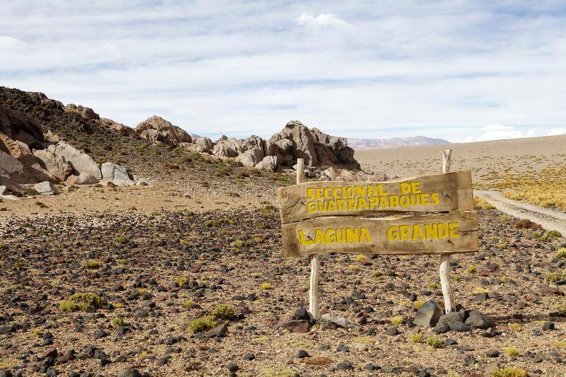 Laguna Grande in de provincie Catamarca in Puna de Atacama, Argentinië stock foto