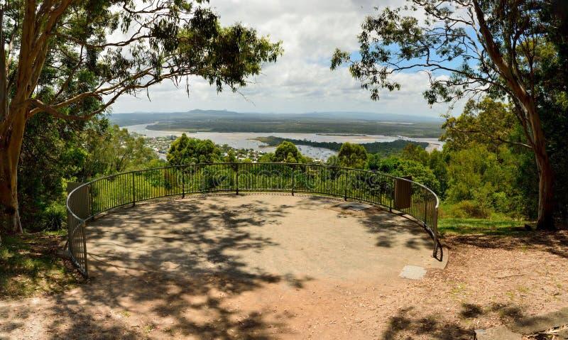 Laguna het Vooruitzicht biedt toneelmeningen over Noosa, Queensland aan royalty-vrije stock foto