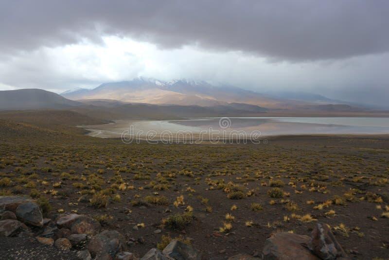 Laguna Honda van de Atacamawoestijn Onweer royalty-vrije stock afbeeldingen