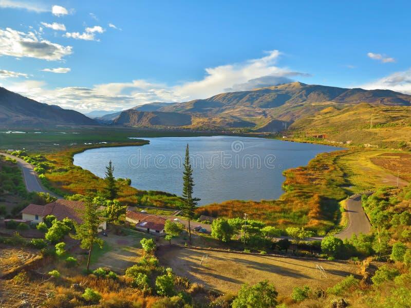 Laguna Huacarpay fotografía de archivo