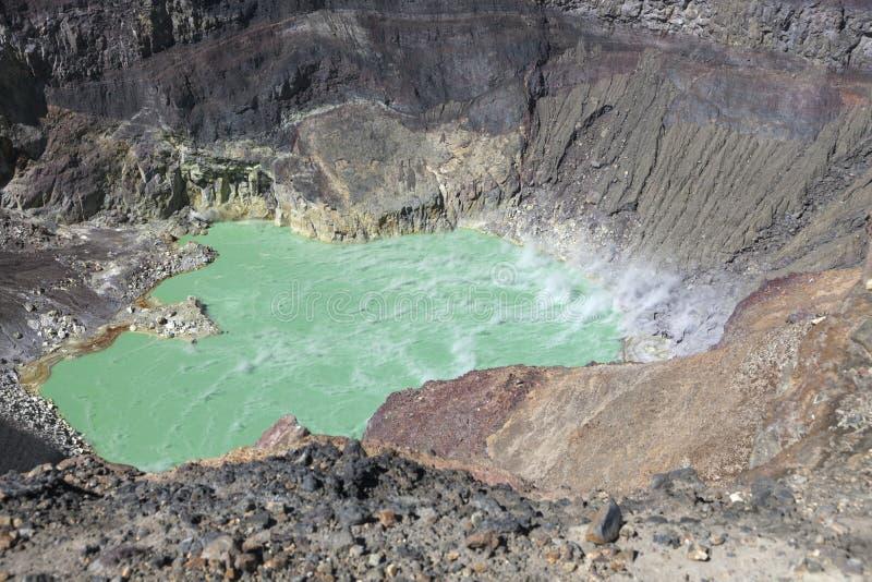 Laguna Ilamatepec dentro Santa Ana Volcano fotografia stock libera da diritti