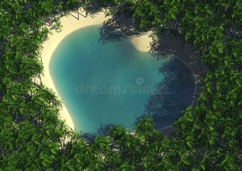 laguna kierowy kształt royalty ilustracja