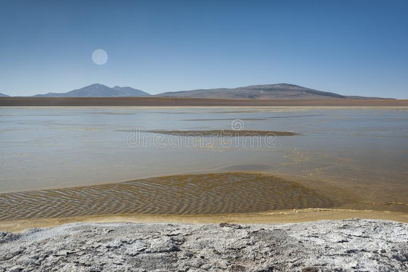 Laguna Kollpa Kkota Collpa Laguna, Sud Lípez Province, Potosí Department. Bolivia stock image