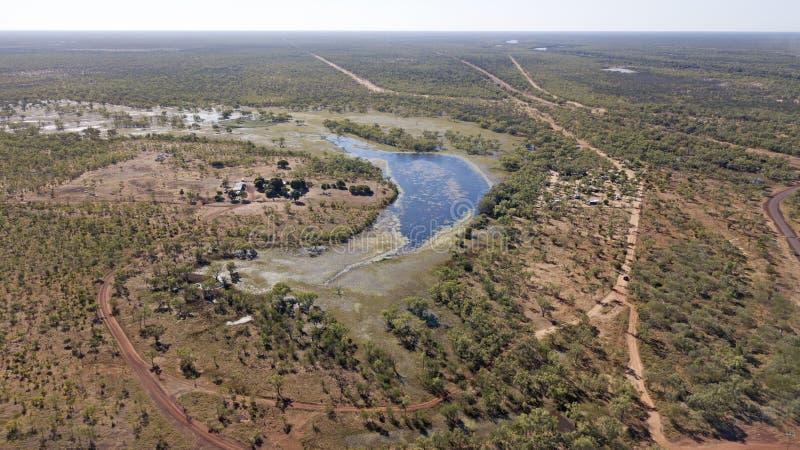 Laguna Leichhardt en el norte de Queensland foto de archivo libre de regalías