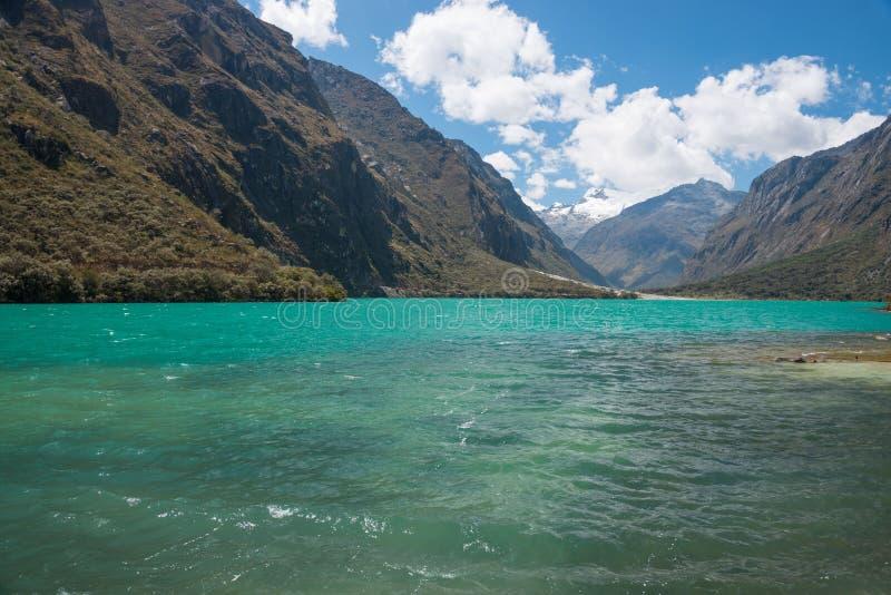 Laguna Llanganuco fotos de stock royalty free