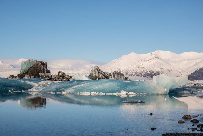 Laguna lodowcowa Jokulsarlon w południowej Islandii zdjęcia royalty free