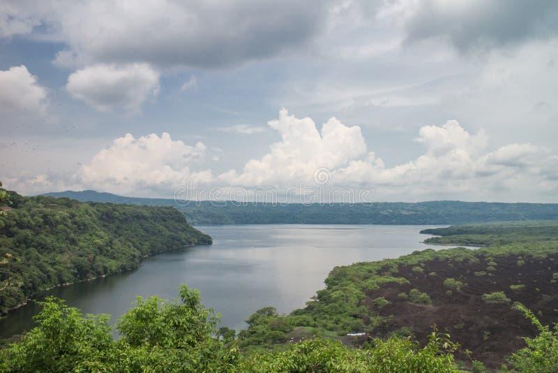 Laguna Masaya άποψη από τη Νικαράγουα στοκ εικόνα