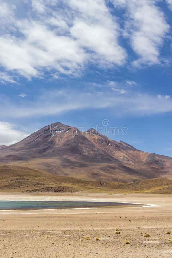 Laguna Miscanti near Atacama desert. stock photography
