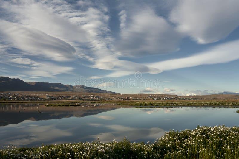 Laguna Nimez fotografia de stock