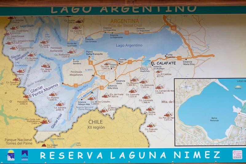 Laguna nimez and argentino lake map in patagonia argentina download laguna nimez and argentino lake map in patagonia argentina editorial stock image image gumiabroncs Images
