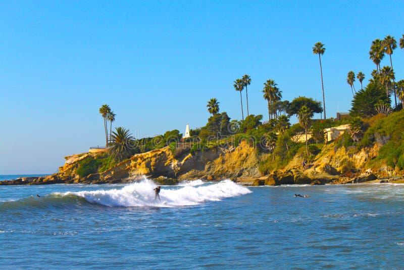 laguna plażowy surfingowiec obraz stock