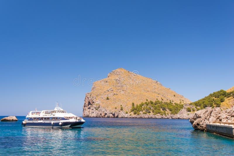 Laguna przy wybrzeżem Mallorca Wyspy obraz royalty free