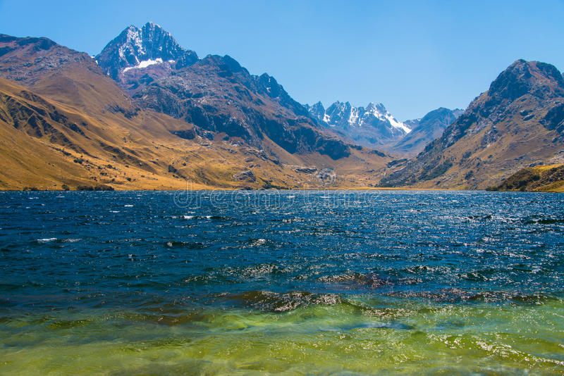 Laguna Querococha imagens de stock