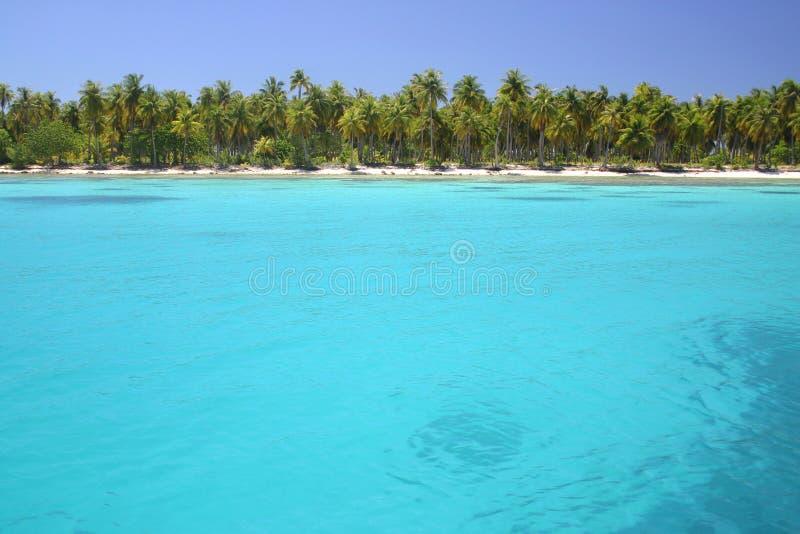 Laguna Rangiroa immagine stock