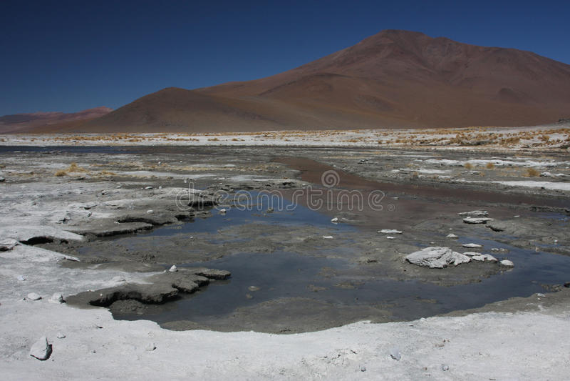 Laguna Salada et montagne photo stock