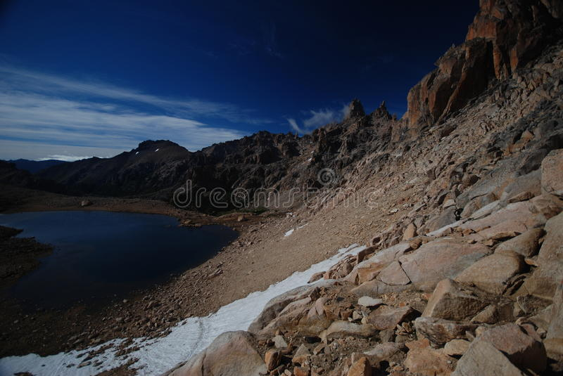 Laguna Schmoll in Argentina stock photography