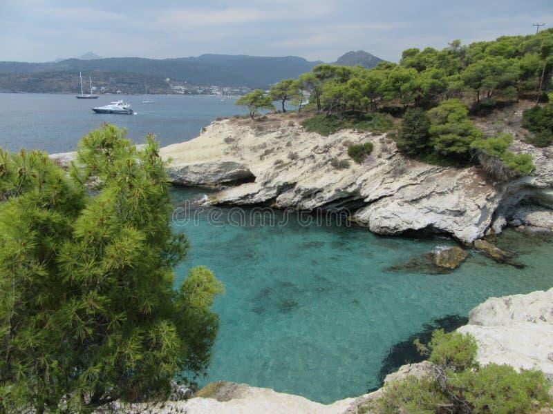 Laguna sull'isola fotografia stock libera da diritti