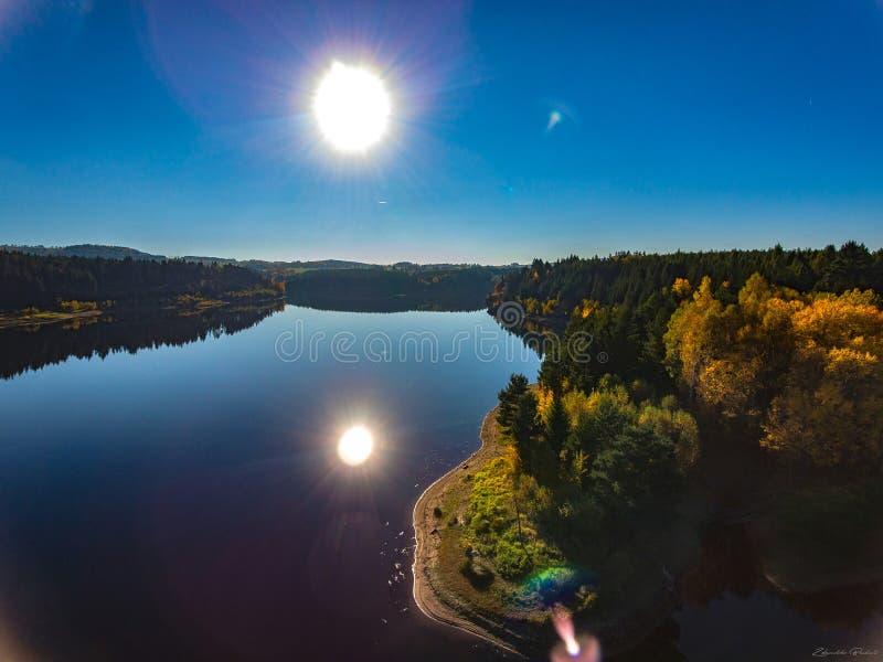 Laguna Sunset. With drone DJI Phantom stock photography