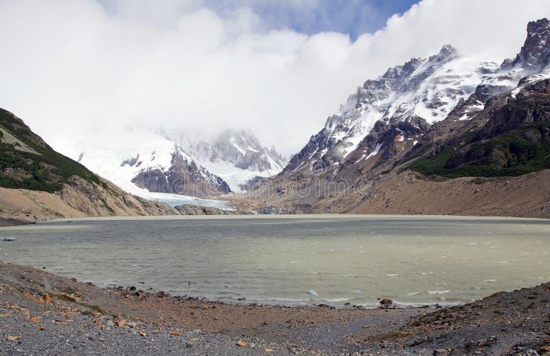 Laguna Torre au parc national de visibilité directe Glaciares, Argentine photographie stock