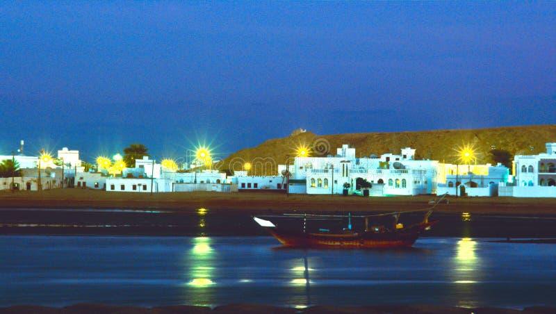 Laguna van Gr Sur in Oman royalty-vrije stock foto's