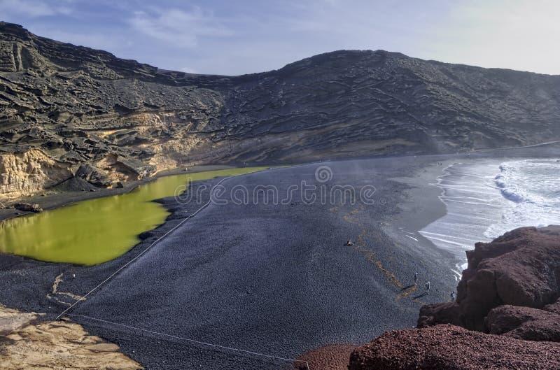 Laguna verde immagini stock