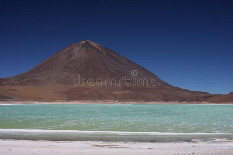 Laguna Verde et Licancabur photo stock