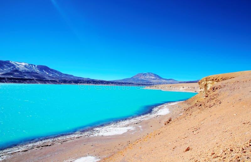 Laguna Verde no Chile imagem de stock royalty free
