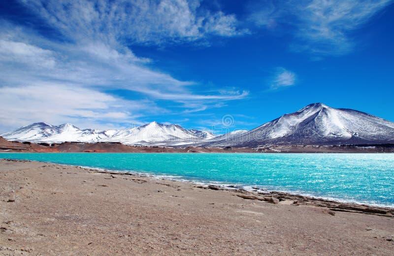 Laguna Verde no Chile fotos de stock