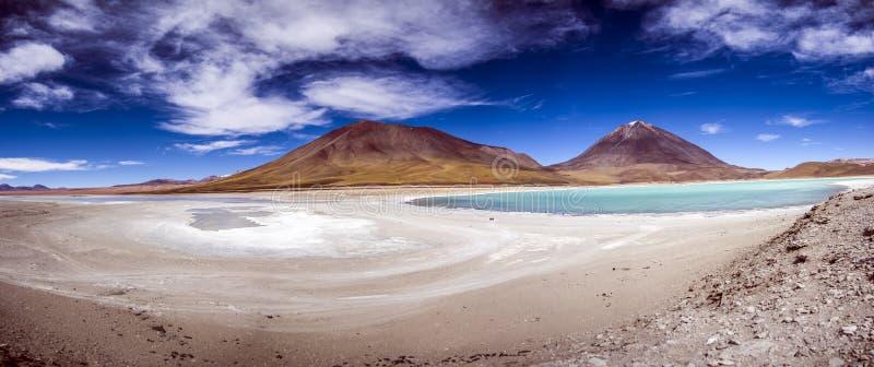 Laguna Verde, Salar de Uyuni, Bolívia fotos de stock royalty free