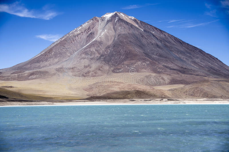 Laguna Verde, Salar de Uyuni, Bolívia foto de stock royalty free