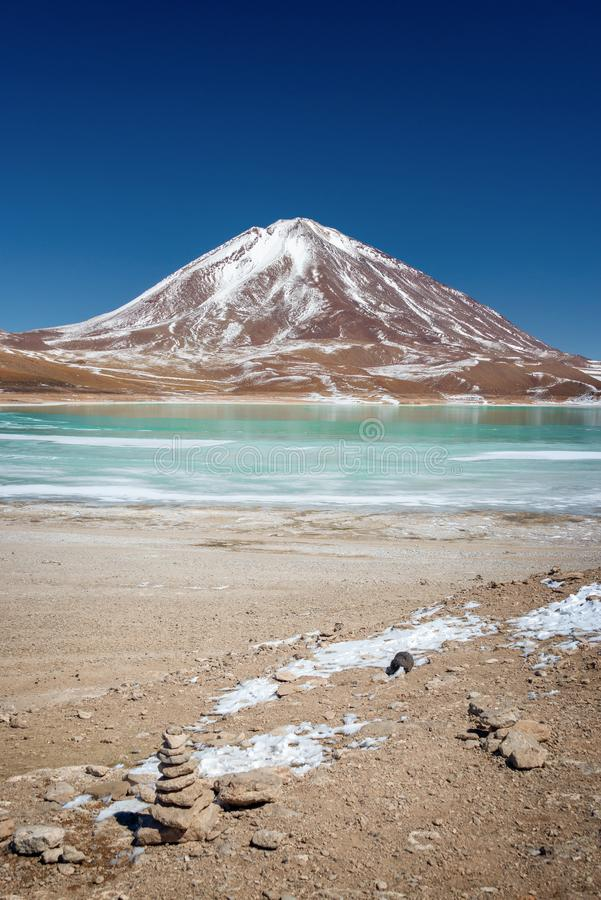 Laguna Verde, Sud Lipez province, Potosi Bolivia. Laguna Verde, Sud Lipez province, Potosi, Bolivia stock images