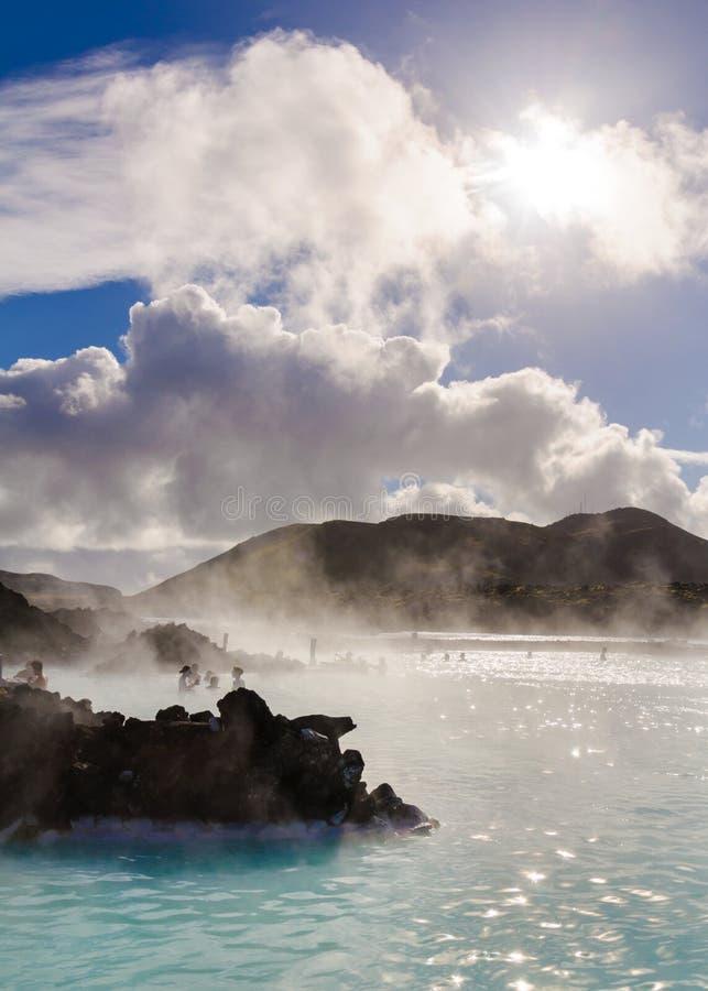 Lagune bleue - centre islandais célèbre de station thermale, Islande image stock