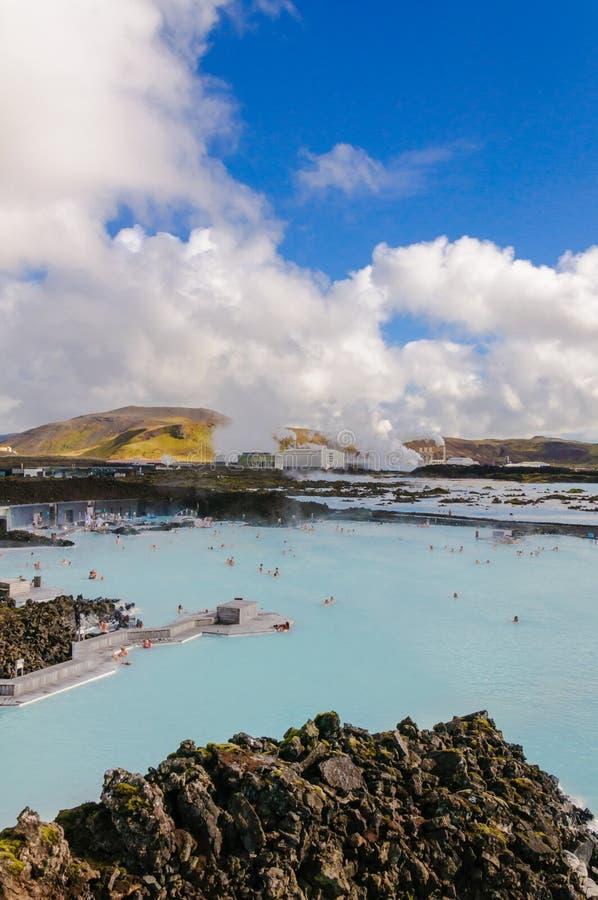 Lagune bleue - centre islandais célèbre de station thermale, Islande image libre de droits