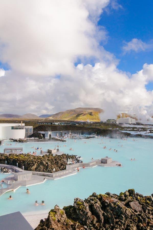 Lagune bleue - centre islandais célèbre de station thermale, Islande photos libres de droits