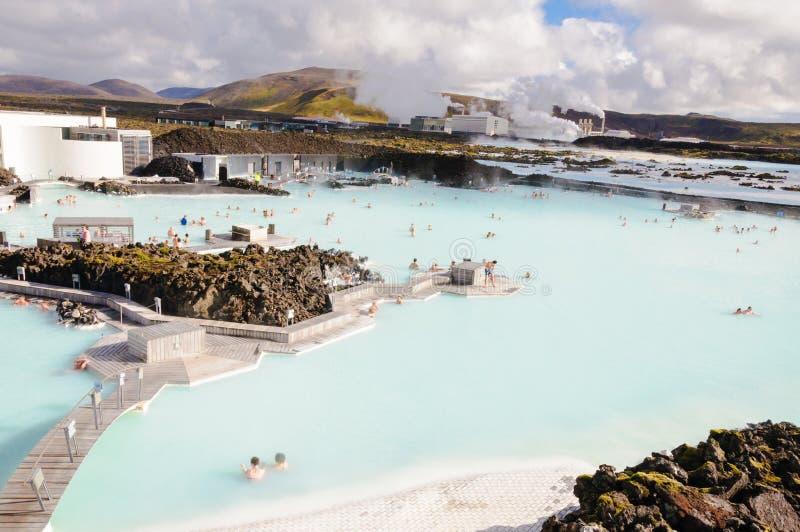 Lagune bleue - centre islandais célèbre de station thermale, Islande photographie stock