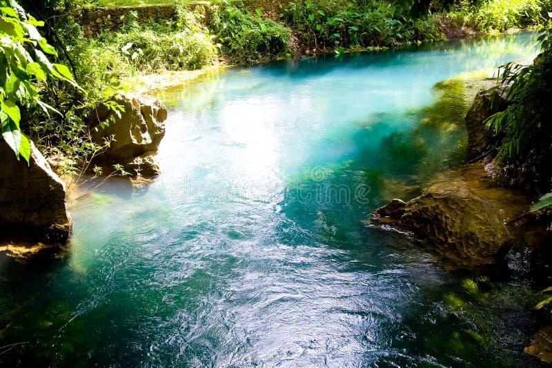 Lagune bleue dans Vang Vieng, Laos image libre de droits