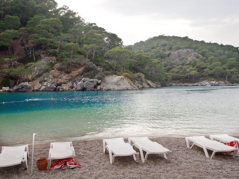 Lagune bleue de rivage dans le deniz de ¼ de Ã-là photos stock