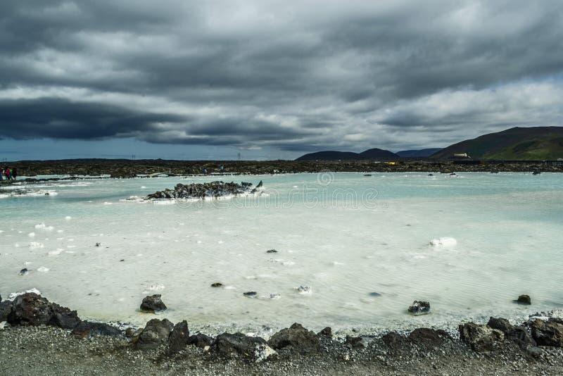 Lagune bleue en Islande photographie stock libre de droits