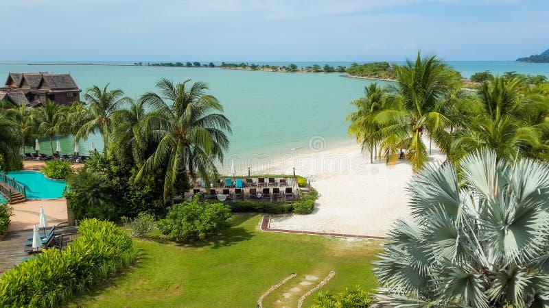 Lagune bleue Langkawi image libre de droits