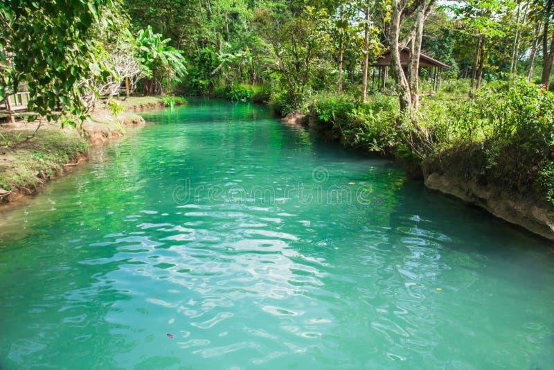 Lagune bleue Laos image libre de droits