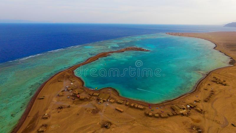 Lagune bleue Sinai Egypte images libres de droits