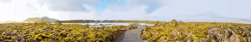 Lagune bleue - station thermale islandaise célèbre et usine géothermique, Islande photo stock